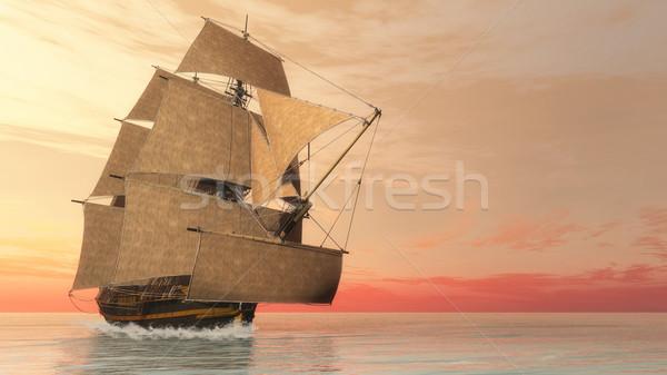 Foto stock: Edad · detallado · buque · victoria · 3d · hermosa