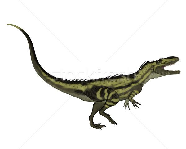 Динозавры 3d визуализации изолированный белый фон животного Сток-фото © Elenarts