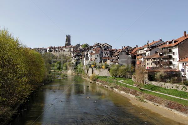 Fribourg city, Switzerland Stock photo © Elenarts