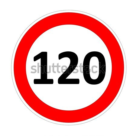 120 speed limit sign Stock photo © Elenarts