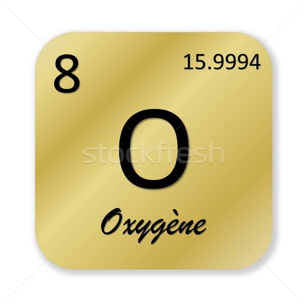Oxigén alkotóelem francia fekete arany tér Stock fotó © Elenarts