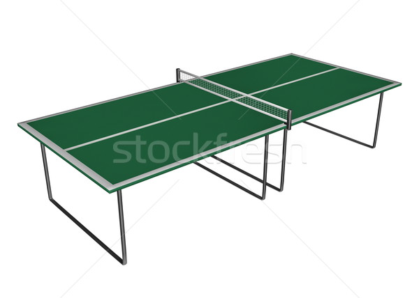 Tennis table - 3D render Stock photo © Elenarts