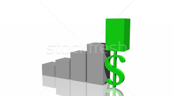 Green dollar in histogram Stock photo © Elenarts