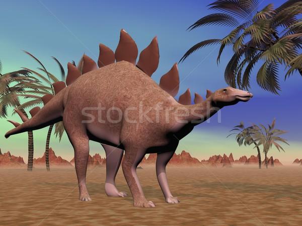 Quiet stegosaurus Stock photo © Elenarts