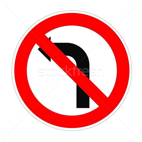 Do not turn left sign Stock photo © Elenarts