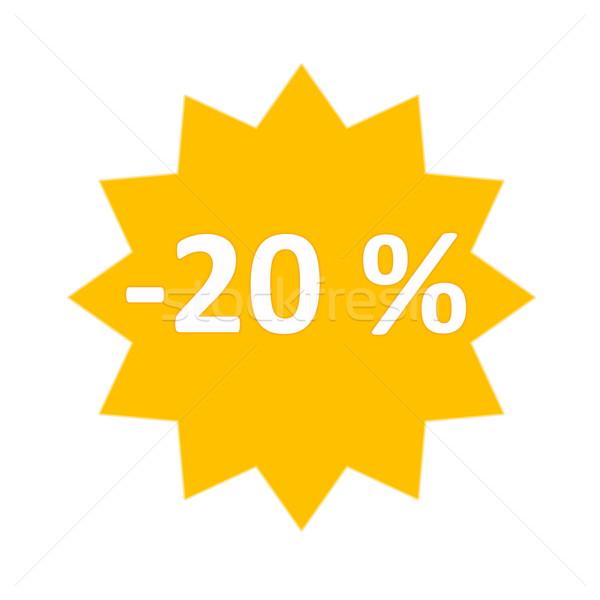 20 percent sale icon Stock photo © Elenarts