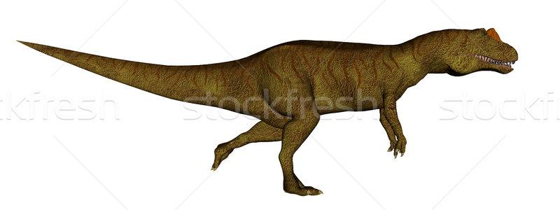 динозавр работает 3d визуализации изолированный белый природы Сток-фото © Elenarts