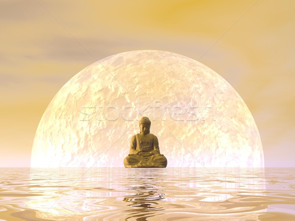 Buddha meditation - 3D render Stock photo © Elenarts