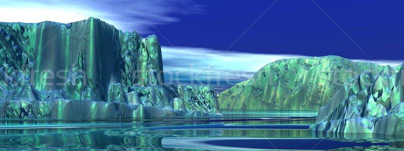многие большой айсберг океана утра свет Сток-фото © Elenarts