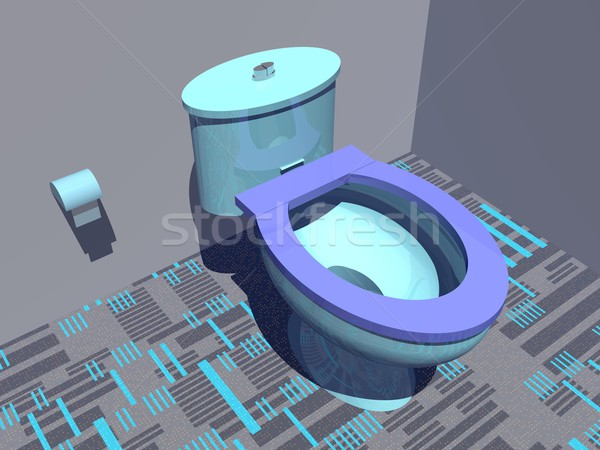 красочный туалет 3d визуализации Nice туалет Сток-фото © Elenarts
