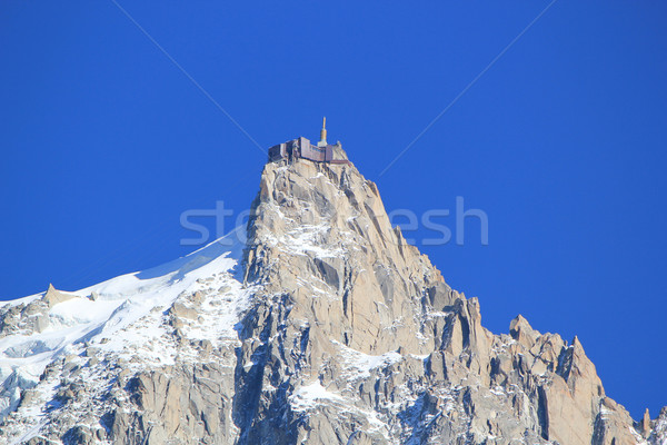 Aiguille du Midi, mont-Blanc, France Stock photo © Elenarts