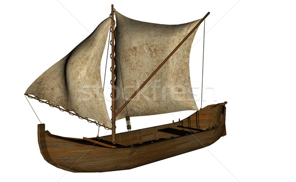 Small sailing boat - 3D render Stock photo © Elenarts