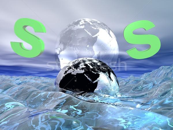 SOS for earth Stock photo © Elenarts