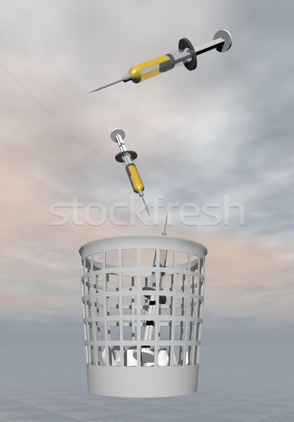Stop 3d render hulladék szürke orvosi háttér Stock fotó © Elenarts