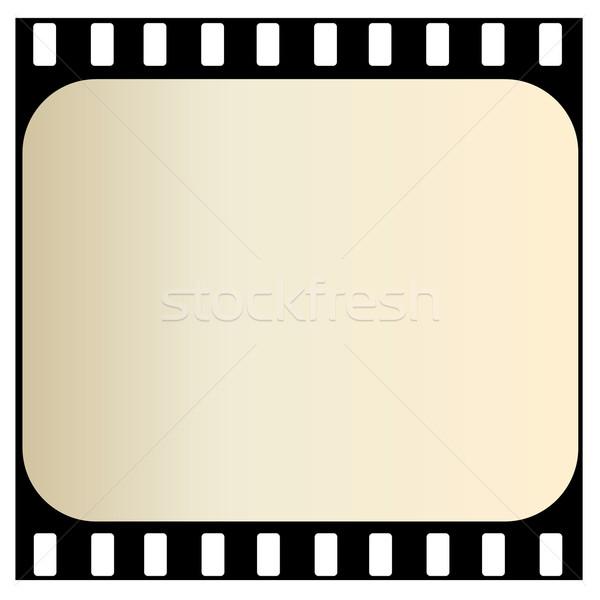Starych taśmy filmowej jeden odizolowany biały film Zdjęcia stock © Elenarts