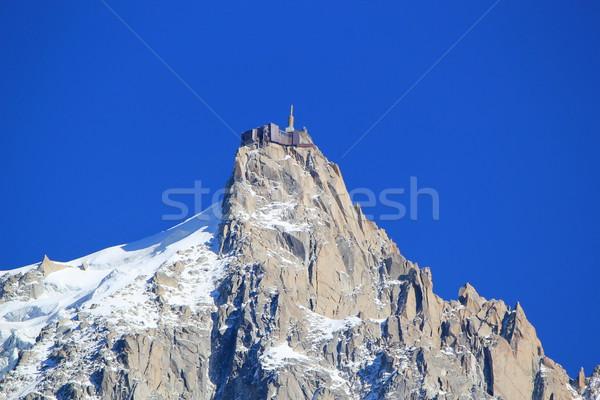 Aiguille du Midi, Mont-Blanc, France Stock photo © Elenarts