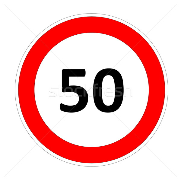 50 speed limit sign Stock photo © Elenarts
