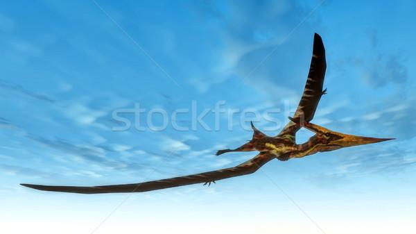 Pteranodon bird flying - 3D render Stock photo © Elenarts