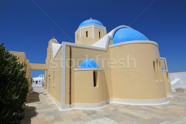 Greek church, Oia, Santorini, Greece Stock photo © Elenarts
