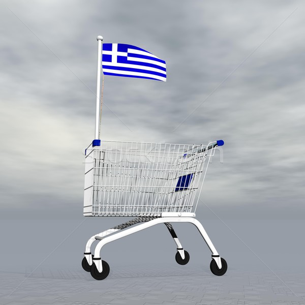 Greek shopping - 3D render Stock photo © Elenarts