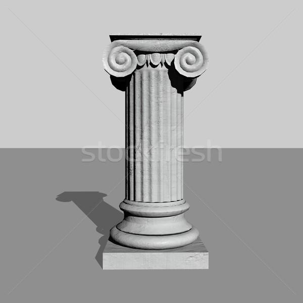 Steen kolom 3d render een pijler grijs Stockfoto © Elenarts