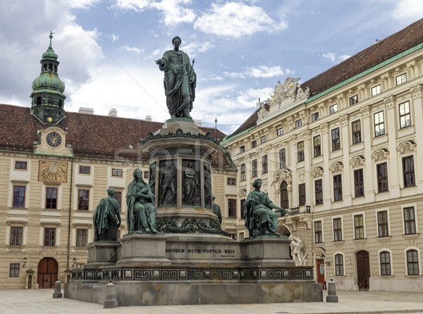 Monument to Emperor Franz I, Innerer Burghof in the Hofburg imperial palace. Vienna, Austria. Stock photo © Elenarts