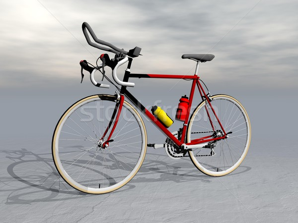 Race bike - 3D render Stock photo © Elenarts