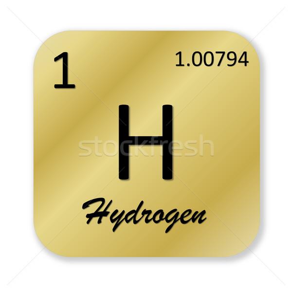 Hidrojen siyah altın kare biçim Stok fotoğraf © Elenarts