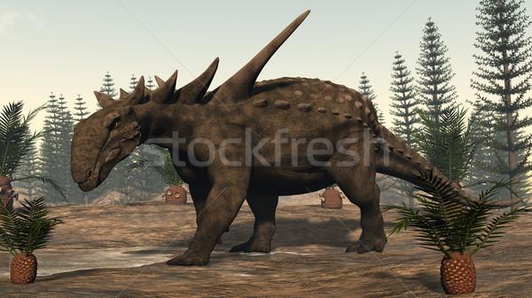 Sauropelta dinosaur - 3D render Stock photo © Elenarts