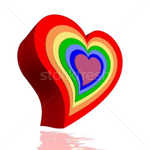 Hearts and chakras Stock photo © Elenarts