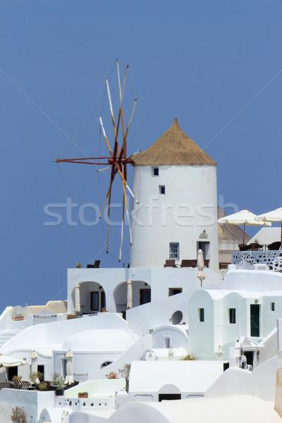 Old windmill at Oia, Santorini, Greece Stock photo © Elenarts