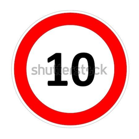 10 speed limit sign Stock photo © Elenarts