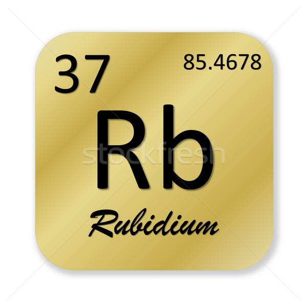 Rubidium element Stock photo © Elenarts