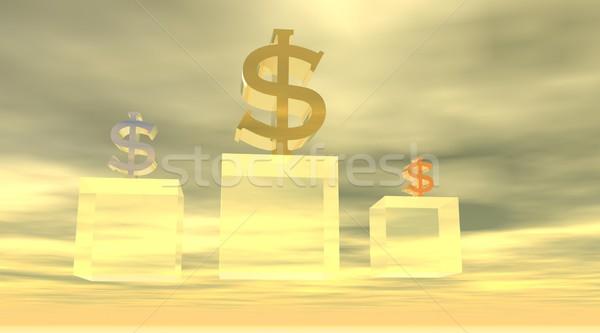 Podium of dollars Stock photo © Elenarts