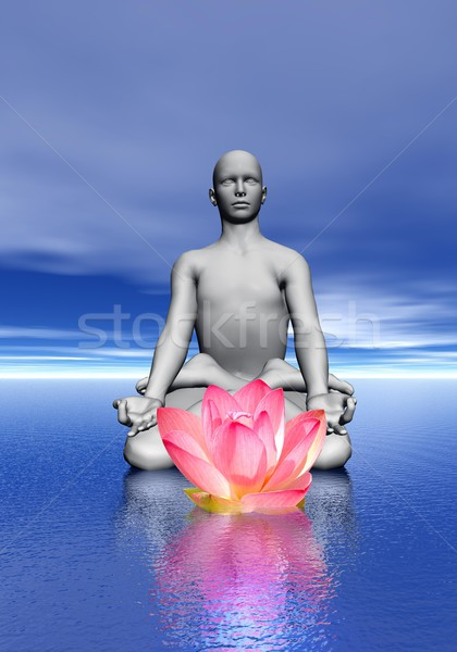 Meditation and waterlily Stock photo © Elenarts