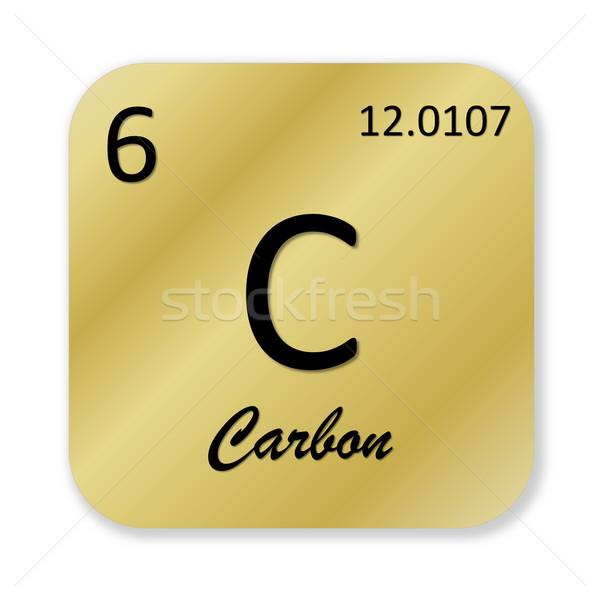 Karbon siyah altın kare biçim Stok fotoğraf © Elenarts