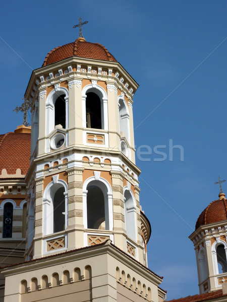 Tower of the Metropolitan Church of Thessaloniki, Greece Stock photo © Elenarts