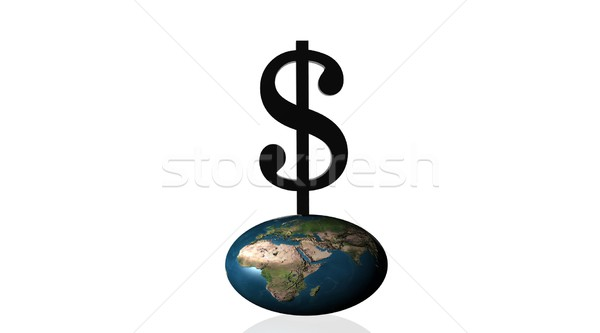 Power of money on earth Stock photo © Elenarts