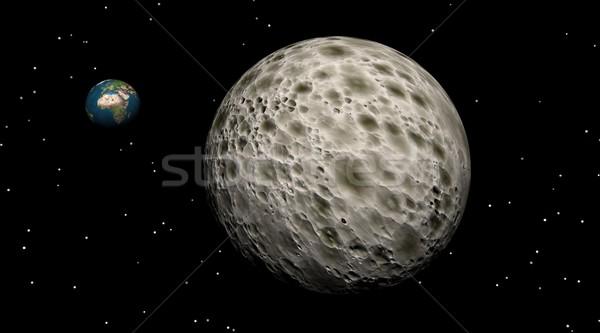 Moon and Earth Stock photo © Elenarts
