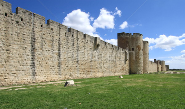 Fortification wall, Aigues-Mortes, France Stock photo © Elenarts