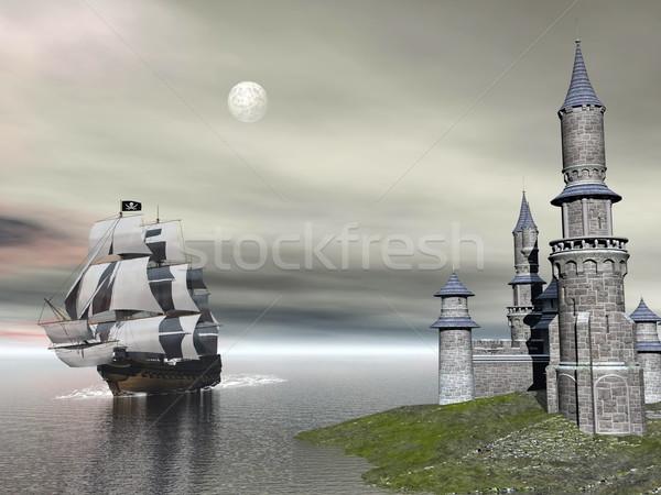 Back home - 3D render Stock photo © Elenarts