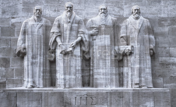 Reformers wall, Geneva, Switzerland, HDR Stock photo © Elenarts