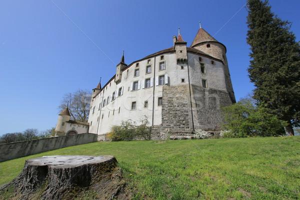 Old castle of Oron, Oron-le-Chatel, Vaud canton, Switzerland Stock photo © Elenarts