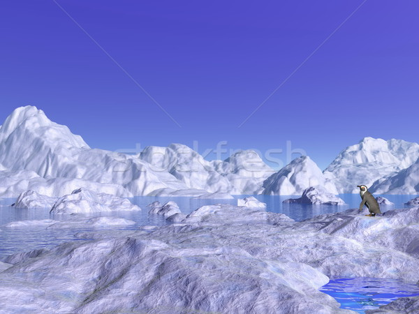 Little in the middle of nowhere - 3D render Stock photo © Elenarts