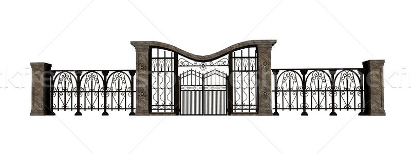 Iron gate and fence Stock photo © Elenarts