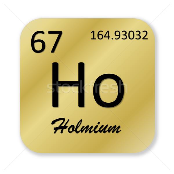 Holmium element Stock photo © Elenarts
