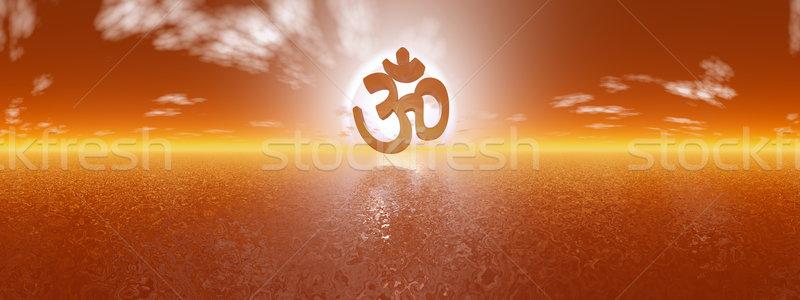 Aum symbol - 3D render Stock photo © Elenarts