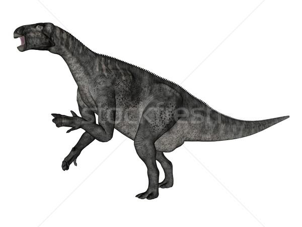 динозавр ходьбе 3d визуализации изолированный белый природы Сток-фото © Elenarts