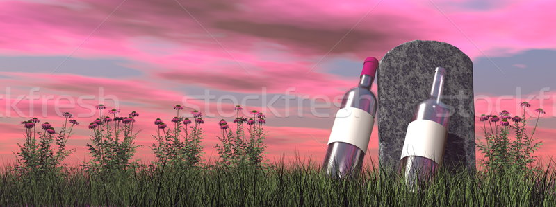Alcoholic tombstone - 3D render Stock photo © Elenarts