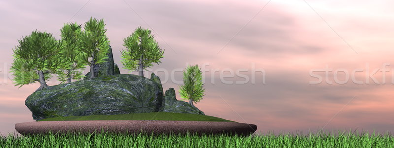 Japanese cedar tree bonsai - 3D render Stock photo © Elenarts